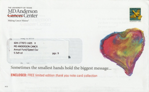 MD Anderson direct mail