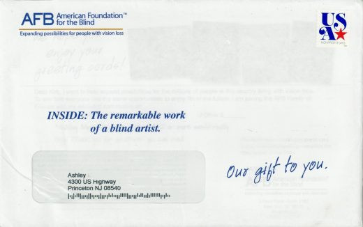 American Foundation for the Blind direct mail