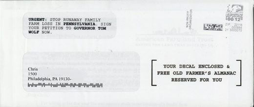 American Farmland Trust direct mail