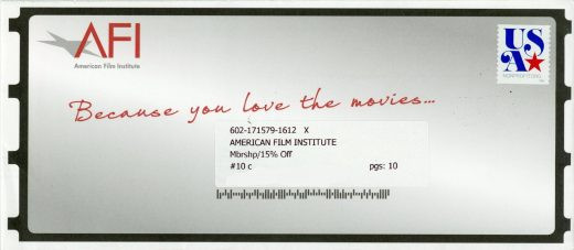 American Film Institute direct mail