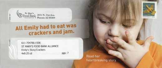 St. Mary's Food Bank direct mail
