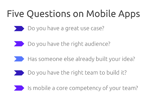 5 Questions on Mobile Apps
