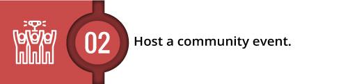 Host a community event (subhead)