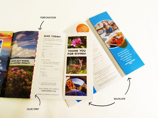 Example of a self-mailer brochure