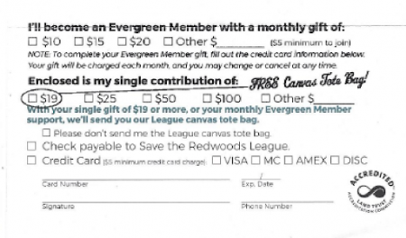 Save the Redwoods appeal reply form