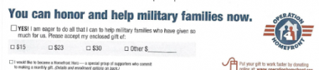 Appeal example from Operation Homefront