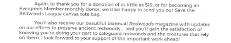 Back page, page 4, Save the Redwoods