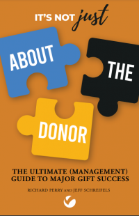 """""""It's Not Just About the Donor"""" book cover"""